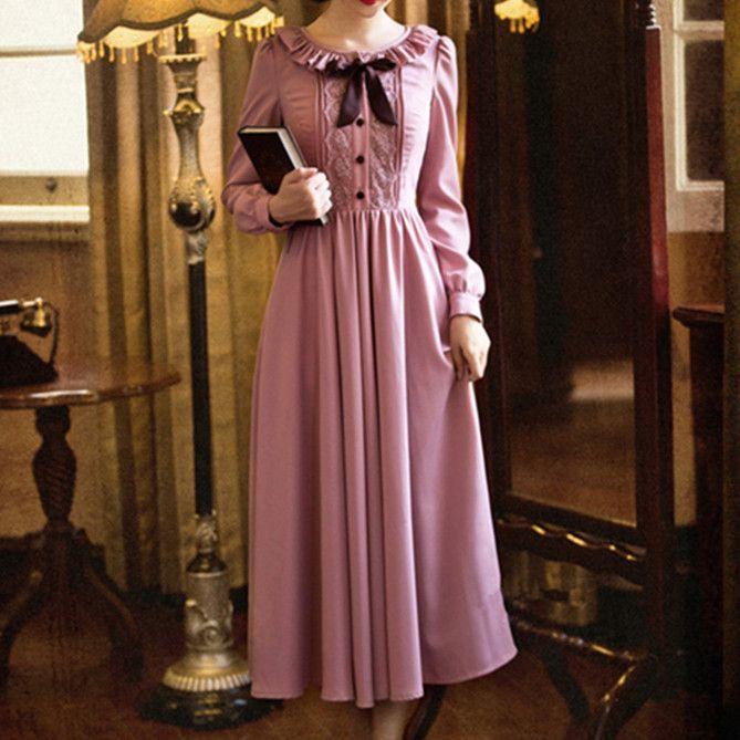 S-XL Dark Pink Fairy Lady Long Dress SP154225 – SpreePicky