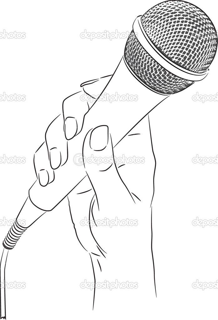 holding microphone drawing - Google Search