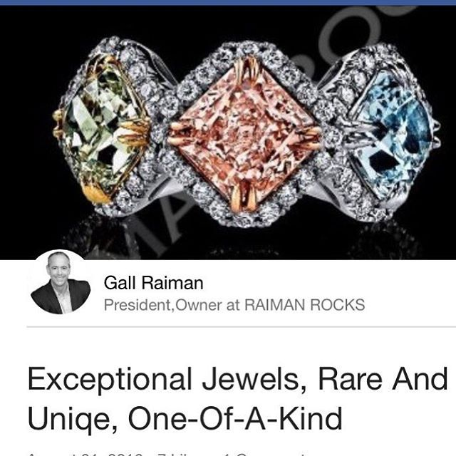 Exceptional Natural Fancy Color Diamond Ring. Pink, blue and Green Diamonds. THE…