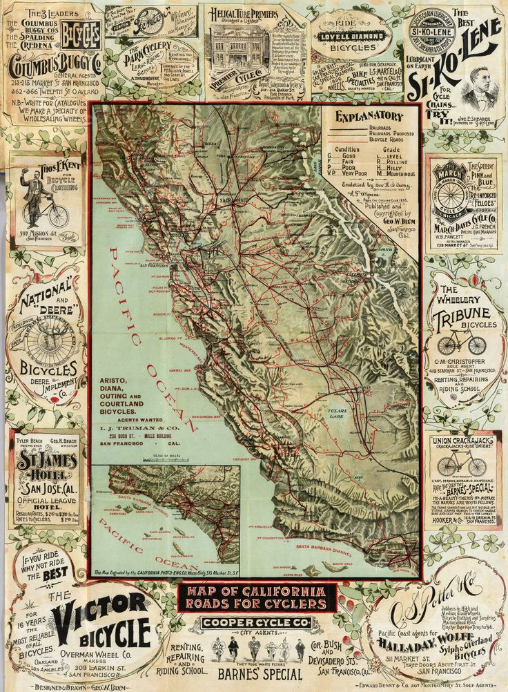 Best Vintage Pictorial Maps Images On Pinterest Pictorial - 1896 map of us