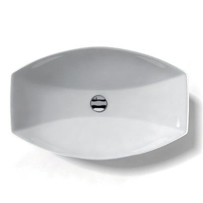 WS Bath Collections LVR 210 Ceramica Vessel Sink, White