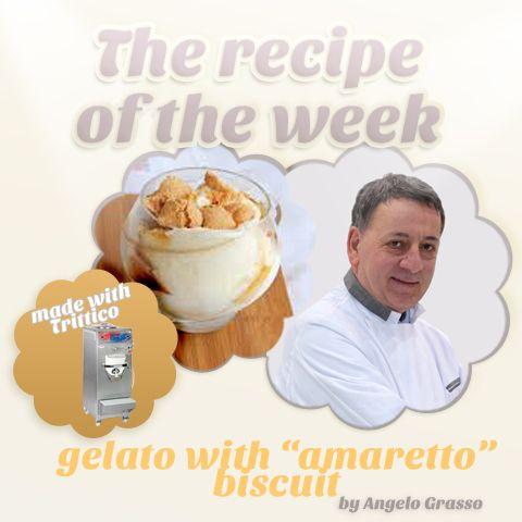 The #recipeoftheweek: #GELATO with #AMARETTO biscuit, by #AngeloGrasso https://www.facebook.com/BRAVOSPA/photos/a.218288168188180.66026.160418363975161/897716220245368/?type=1&theater