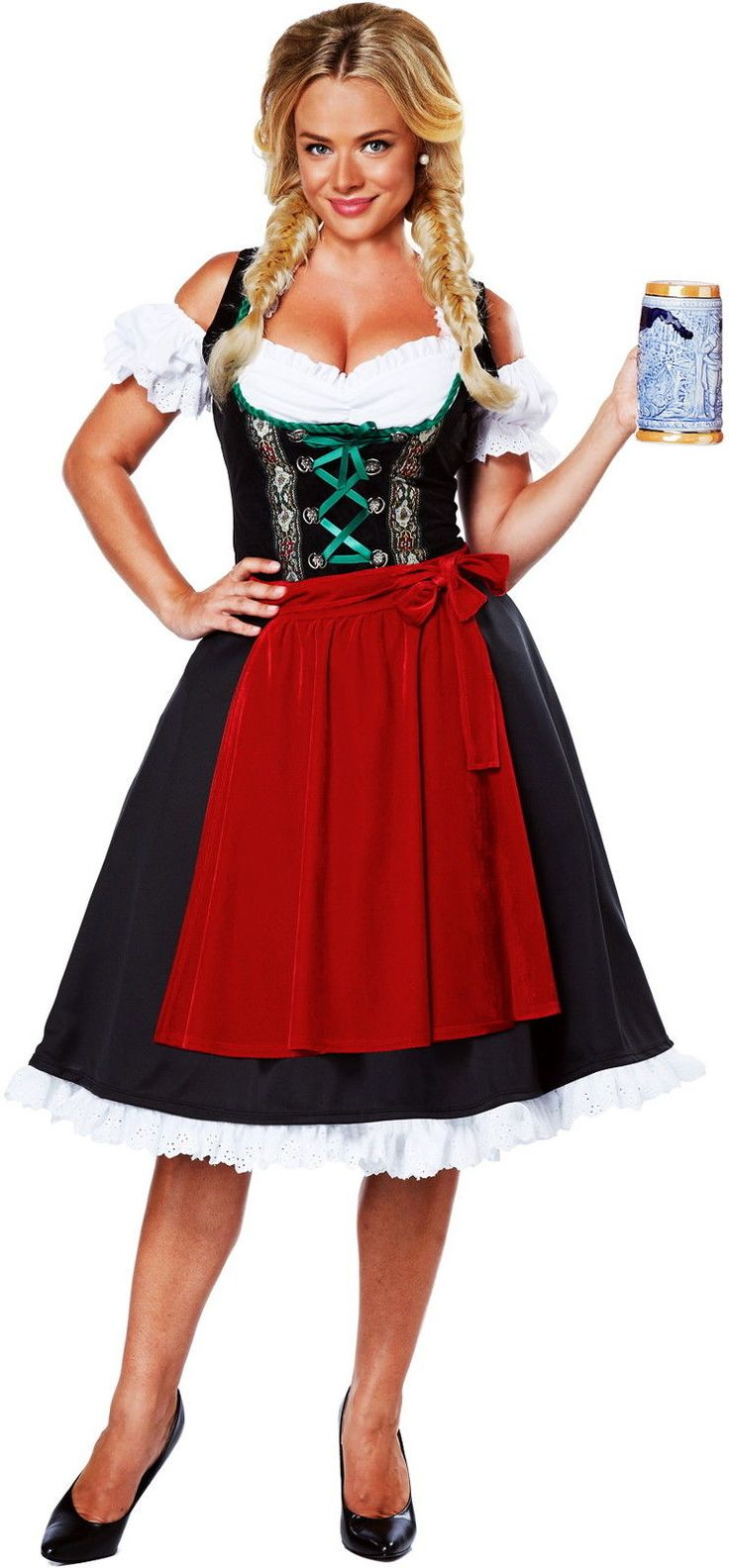 Cheers Traditional German Dirndl Fraulein Dress Oktoberfest Costume Adult Women