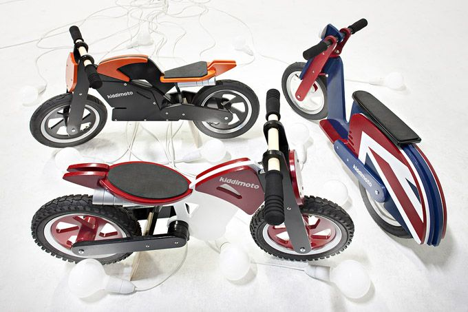 Learning to ride a bike is one of the most valuable skills a child can learn, helping them master the art of balance, a skill crucial to so many other physical activities and sports. UK based Kiddimoto has created a range of cute-looking wooden bikes which are designed to teach young children precisely that - balance. The slimline, lightweight birch plywood bikes are easy steer and manoeuvre and feature proper rubber tyres, providing a smooth ride by gliding across outdoor surfaces.