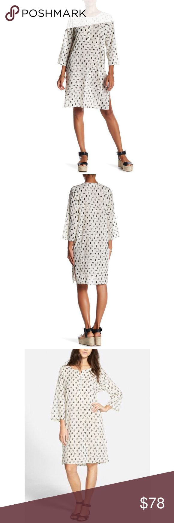 Velvet by Graham Spencer White Print Voile Dress Brand new with tags. Cotton is a big see through, so this would be good to wear with a slip, nude underwear, or as a tunic. More photos coming soon Velvet by Graham & Spencer Dresses Midi