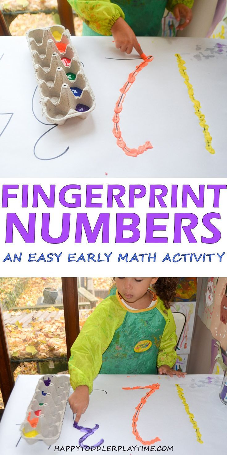 Fingerprint Numbers – HAPPY TODDLER PLAYTIME #kidsactivities #kidsactivity #todd…