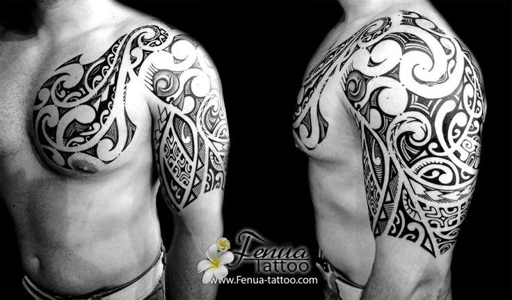 826 best tribal tatts images on pinterest maori tattoos polynesian tattoos and samoan tattoo - Tatouage bras homme tribal ...
