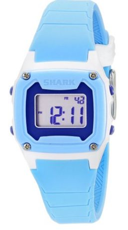 Freestyle Women's 10019185 Shark Blue Digital Watch. Still the best water watch I ever owned because you don't have to worry about it getting all dinged up, and it stays put!