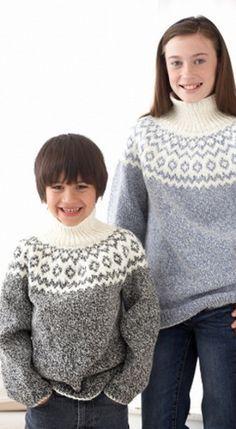 Kid's Classic Fair Isle Sweater-free pattern @ All Free Knitting