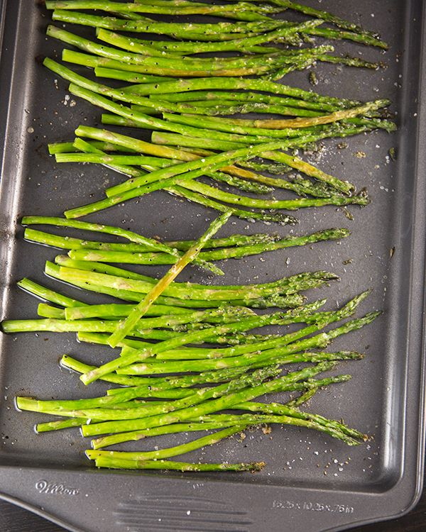 Tender Oven Roasted Asparagus will soon be your favorite way to prepare asparagus! It's ready in 20 minutes and only requires olive oil, salt, and black pepper.