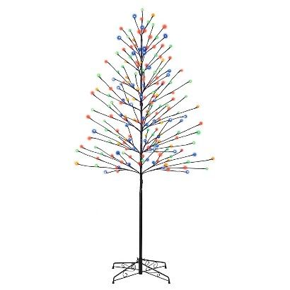 You'll feel the holiday spirit with the Philips 6' Pre-Lit LED Artificial Twig Tree with Cool White and Multicolored Lights. The remote activates 3 lighting effects, so you can easily turn your tree from cool white to multicolored lights. This tree is sure to bring a festive look and feel.