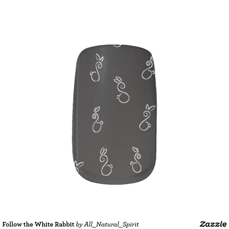 Follow the White Rabbit this Old Hallow's Eve by wearing these spooky Black Nail Art inspired by Alice in Wonderland! Available on other customizable products @ https://www.zazzle.com/z/ylqqr?rf=238562247198752459 #Zazzle #Halloween #Spooky #Black #Nails #NailArt #FollowtheWhiteRabbit #AliceInWonderland #Style #Fashion