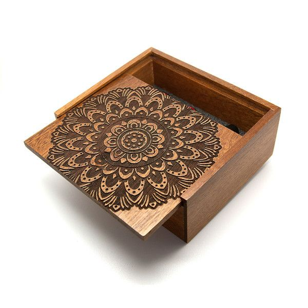 Bold Mandala - Wooden Jewellery Box | UK Custom Plugs - Ear Gauges, Flesh Tunnels for Stretched Ears