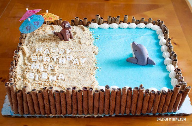 OneCraftyThing.com | Dog and Dolphin Cake