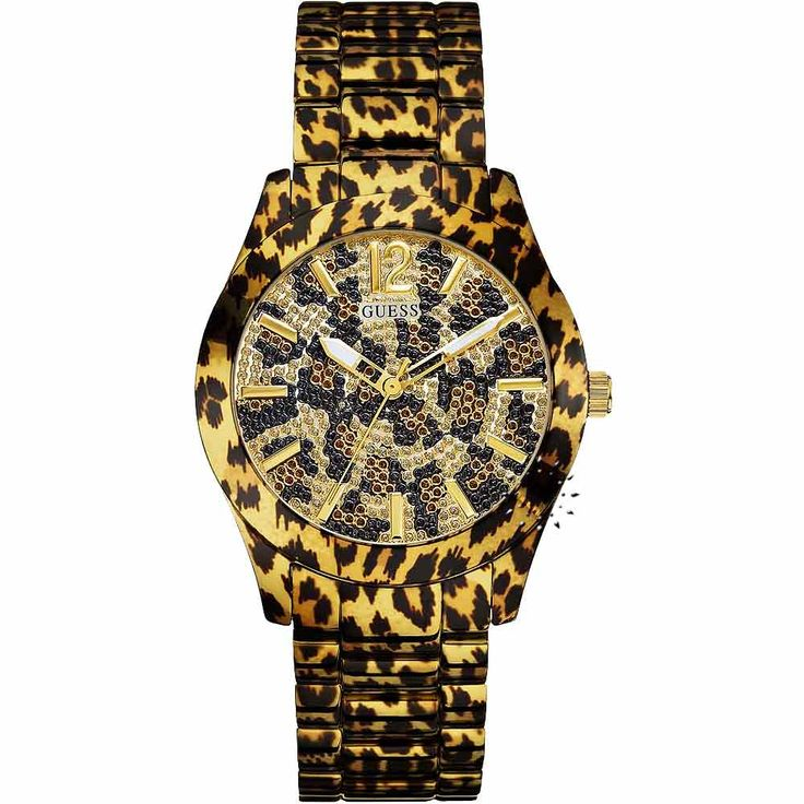 GUESS Fierce Gold Animal Print Stainless Steel Μοντέλο: W0001L2 Τιμή: 163€ http://www.oroloi.gr/product_info.php?products_id=30402