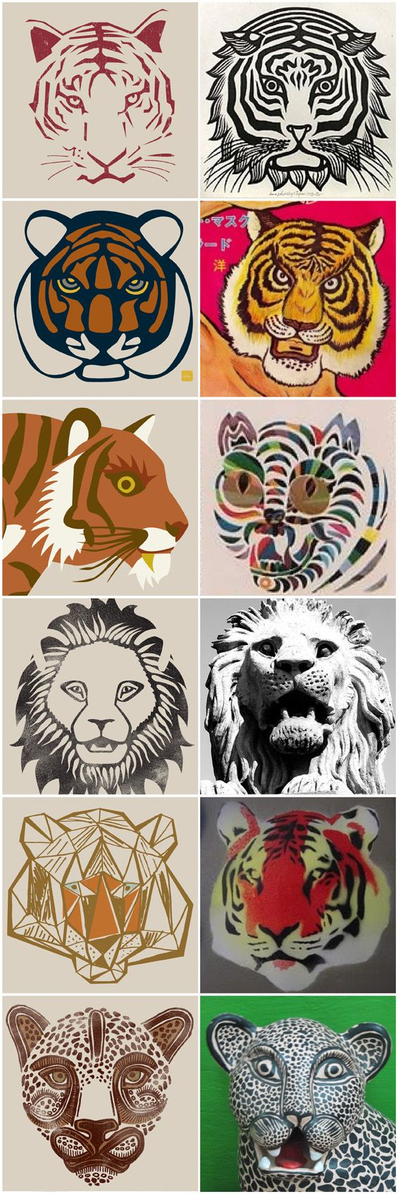 Tea Collection Tiger faces and corresponding cultural inspiration