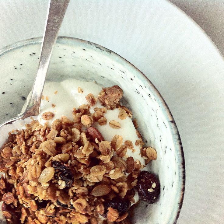 God morgenmadsmüsli med yoghurt