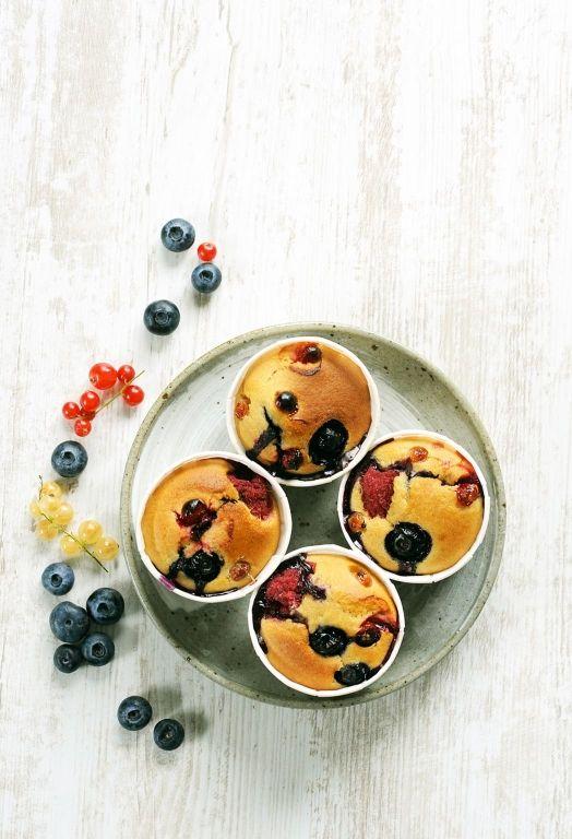 Muffins légers aux fruits rouges - Recipes for Cook Processor Kitchenaid #CookProcessor