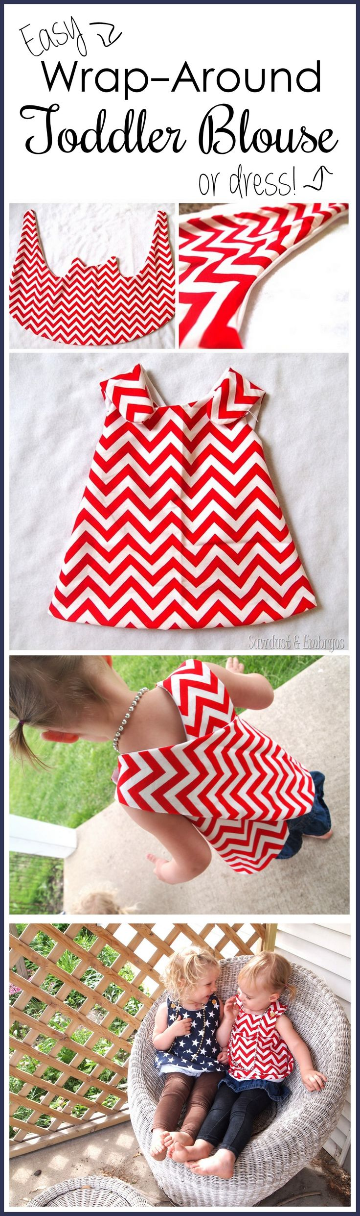 Suuuper simple wrap-around dress tutorial... so cute for toddlers! #toddler #babyoutfitsforsale #streetstyle
