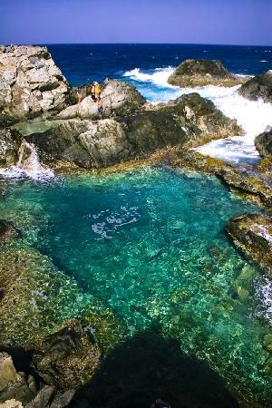 Natural pool, Aruba. Cory and I have totally been here! Quad Riding in the Aruban Desert!