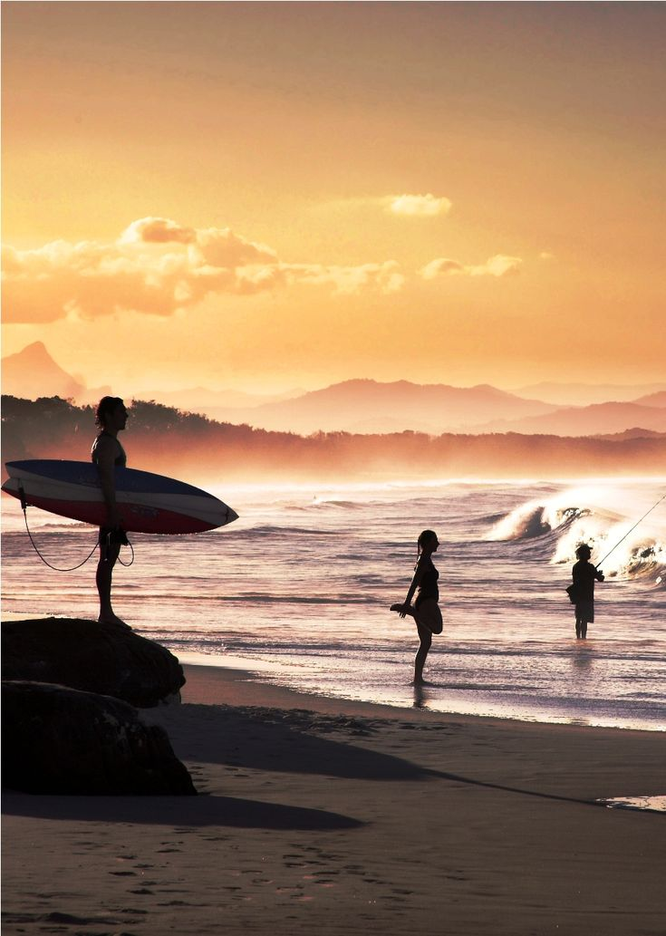Byron Bay, Australia----Pubs, cafes and bookshops host buskers, musicians, artists and drift-ins who walk the streets barefoot and bleary eyed. There's a lingering scent of the Flower Power generation, while surfers wait for perfect waves.