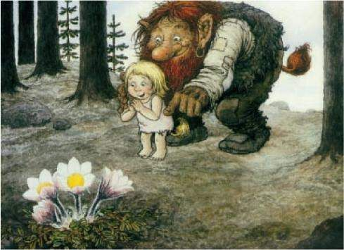 This picture is by Rolf Lidberg, a famous Sweedish painter, famous for his pictures of trolls.
