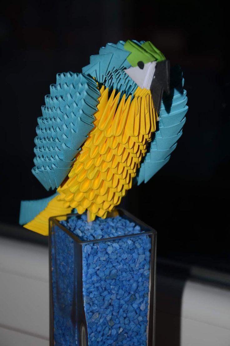 Papoušek na světle :). Jedná se asi o druhý výtvor. Také z youtube návod.