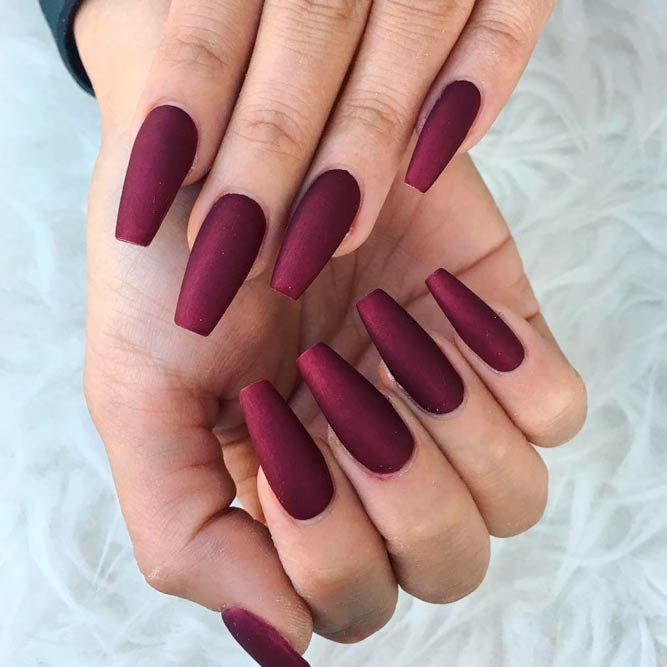 48 Fantastic Burgundy Nails For Super Stylish Ladies