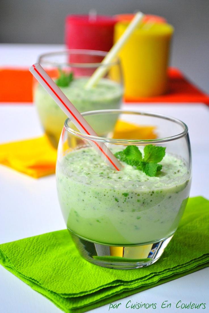 Recette rafraîchissante : Gaspacho de concombre à menthe