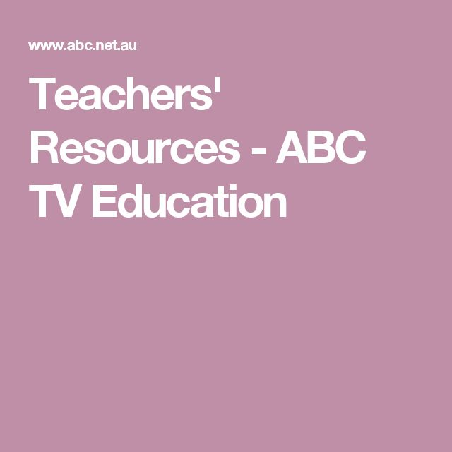 Teachers' Resources - ABC TV Education