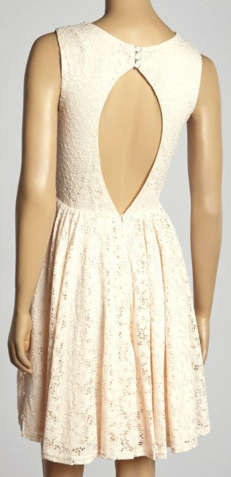 Pink Eyelet Sleeveless Dress