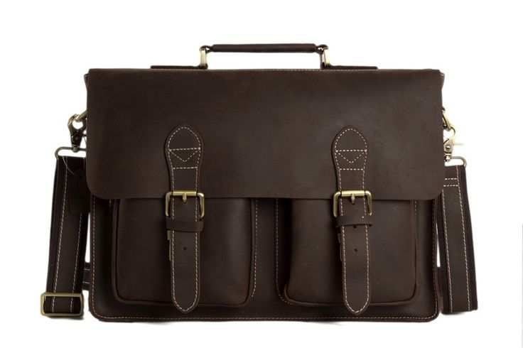 Bags : Handcrafted Vintage Top Grain Genuine Leather Laptop Briefcase