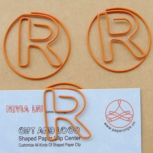 R Shaped Paper Clip