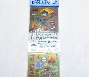 Camping Sticker Embellishments on sale for R47.50  | Paradise Creative Crafts cc