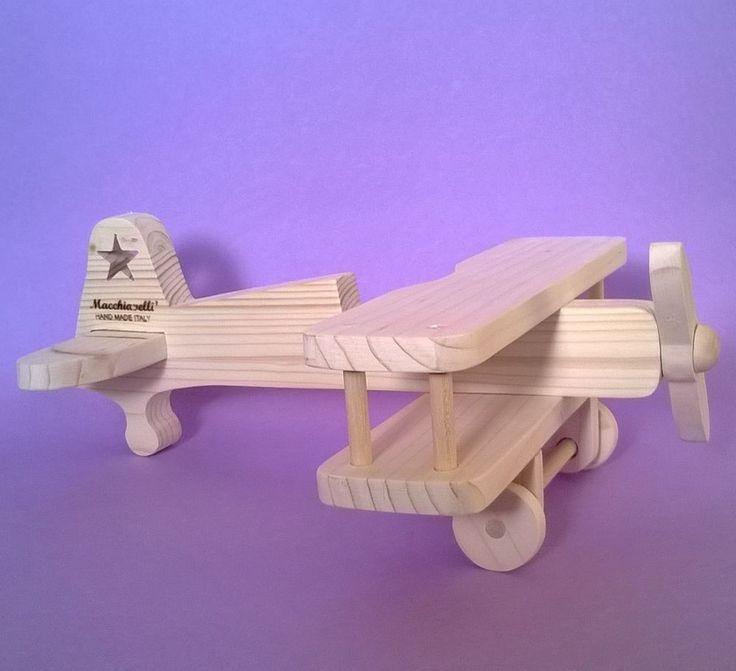 Aeroplano in legno per bambini modello  Stearman