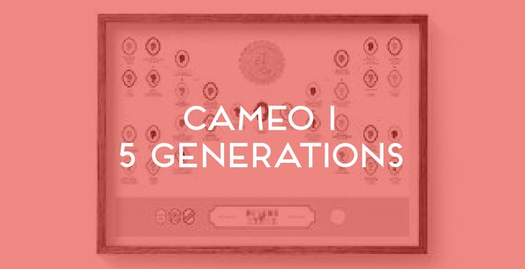 Cameo I 5 Generations. The Family Tree Co ©