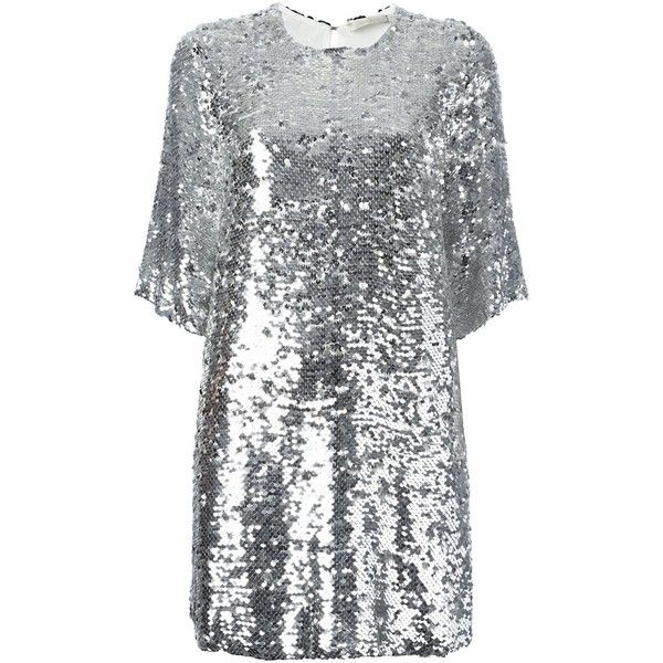 Amen sequined dress ($635) ❤ liked on Polyvore featuring dresses, grey, gray sequin dress, sequin cocktail dresses, rayon dress, sequin dresses and gray dress