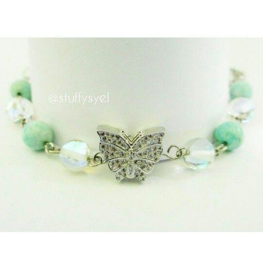 Butterfly Breacelet // Butterfly Connector // Handmade Bracelet // Gelang Handmade