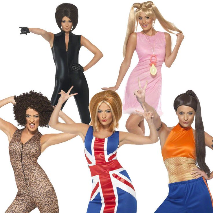 spice girls 1990s fancy dress costume pop star outfit