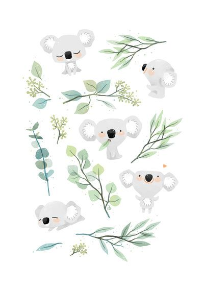 Koala and Eucalyptus by freeminds