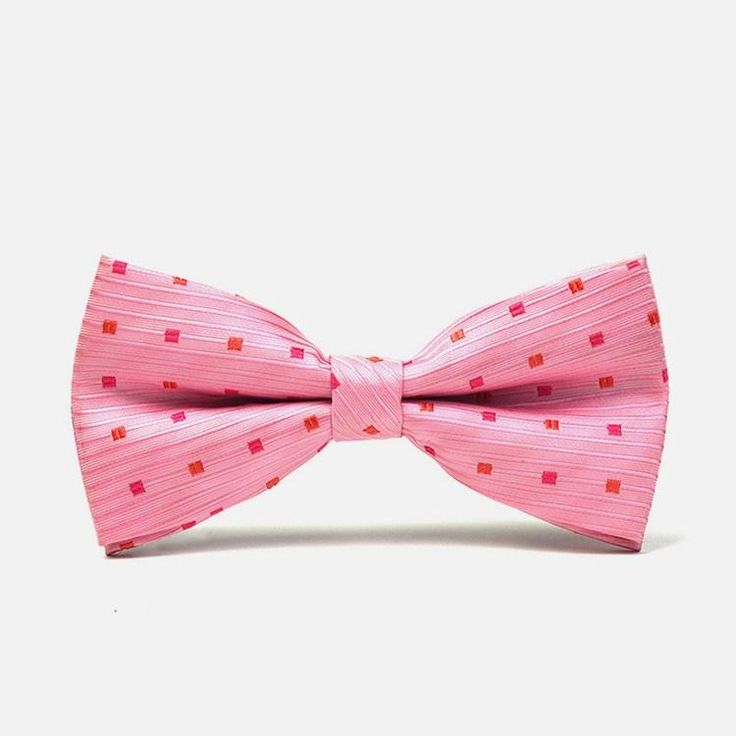 Pink Polka Dot Bow Tie: Polka dots are all about adding a measure of fun to any outfit you put on. This brightly colored pink bowtie offers the zing you need to give your ensemble a bit of personality and style. It is perfect especially when paired with plain, brightly colored linen shirts.  bowselectie.com