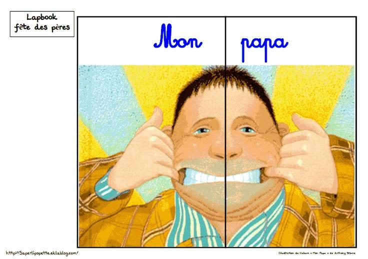 Lapbook fête des pères avec l'album Mon Papa d'Anthony Browne