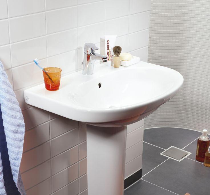 Tvättställ (>50 cm bredd) från Nautic. Städvänlig med minimalisk design.