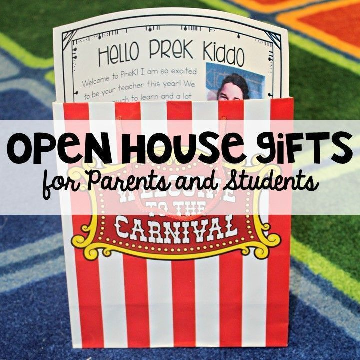 Open House Gift for Parents and Students