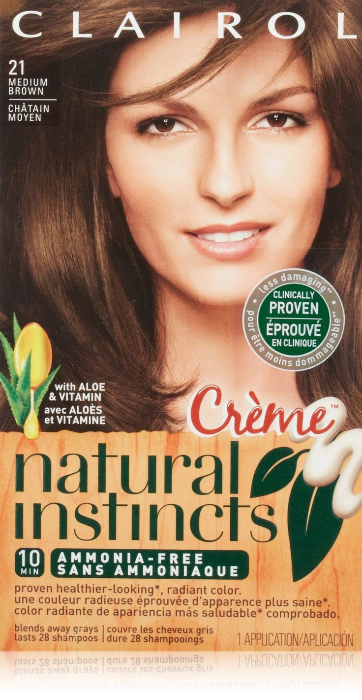 Clairol Natural Instincts Hair Color Creme 21, Chocolate Creme, Medium Brown 1 Kit (Pack of 4)