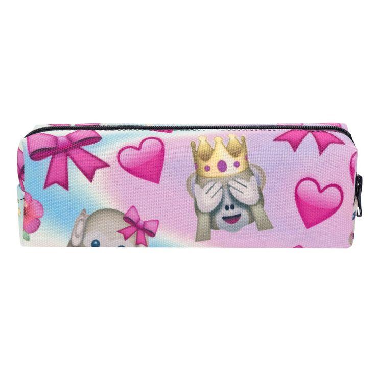 Emoji Monkey Color Pink 3D Printing cosmetic bag 2016 New Fashion women makeup bag Pencil school necessaire trousse de toilette