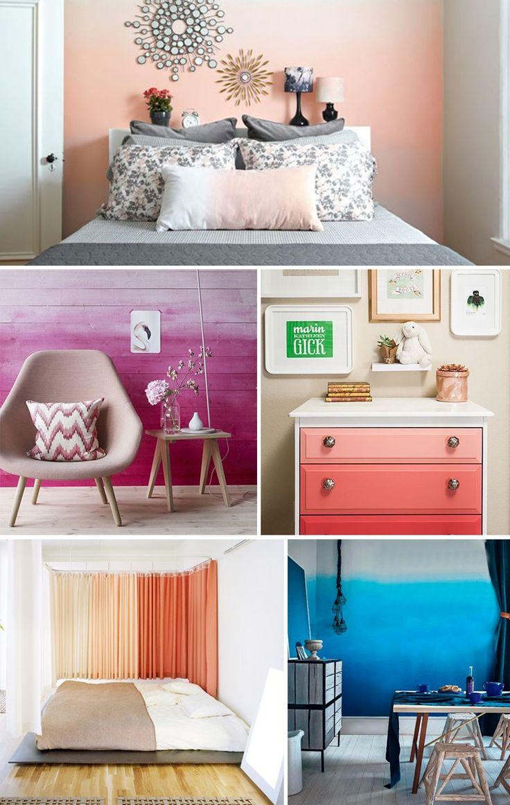 el degradado de colores es una manera original de aportar carisma a la decoracin del hogar recursos y tcnicas para decorar textiles muebles y pu