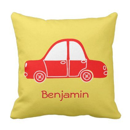 Car Cushion - newborn baby gift idea diy cyo personalize family