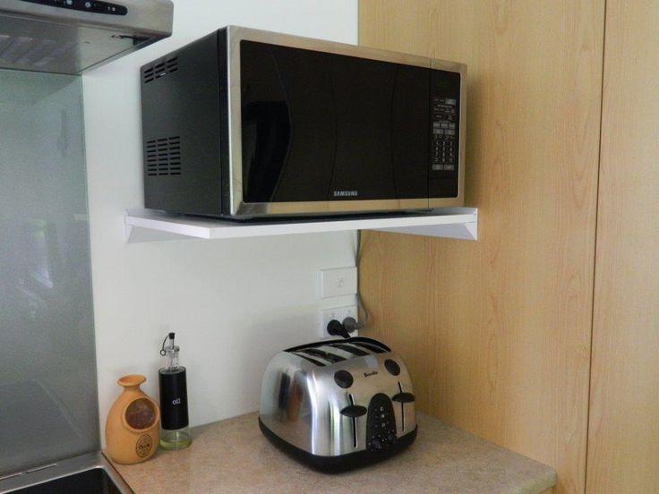 Image result for microwave shelf