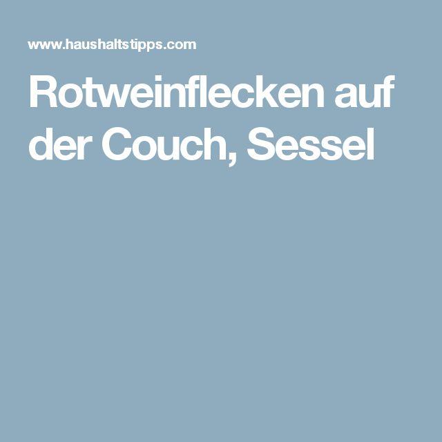 Rotweinflecken auf der Couch, Sessel